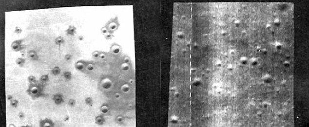Сравнение лунной поверхности с кратерами в пустыне