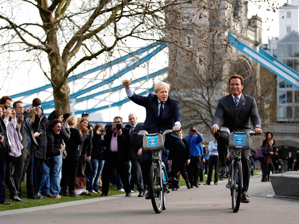 На фото: мэр Лондона и 38-й губернатор Калифорнии