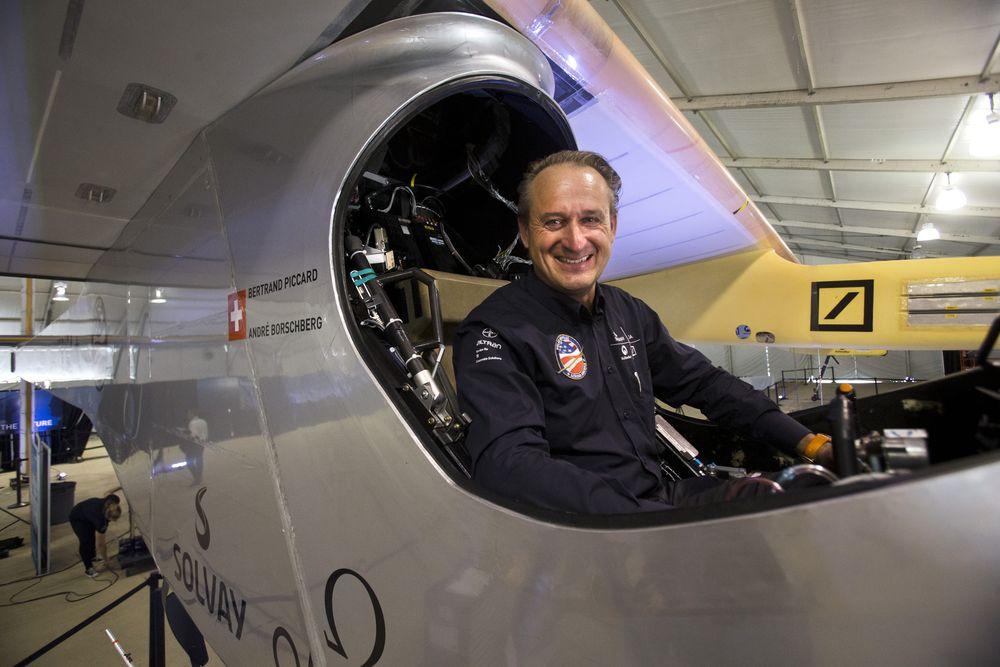 Андре Боршберг — один из пилотов Solar Impulse