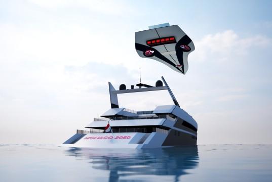 Monaco 2050 также сможет трансформироваться и в ветролет
