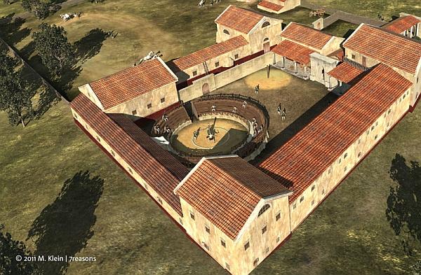 Школа гладиаторов была также и тюрьмой