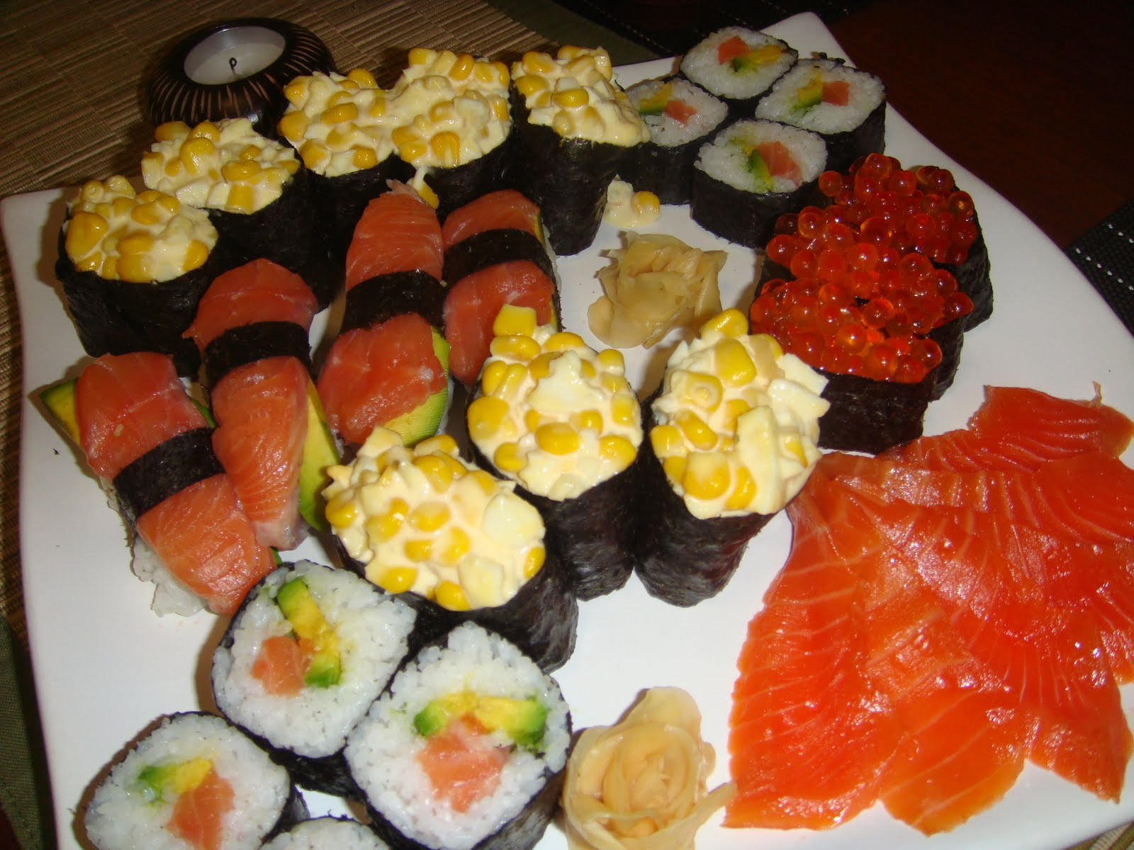Тэмпура - один из самых калорийных видов суши