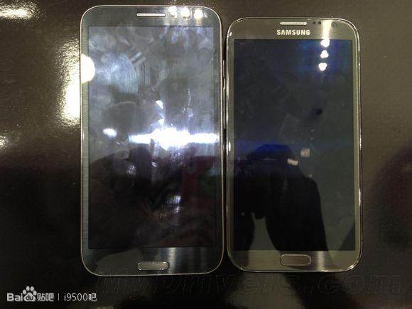 Первое фото Samsung Galaxy Note III в сравнении с Note II