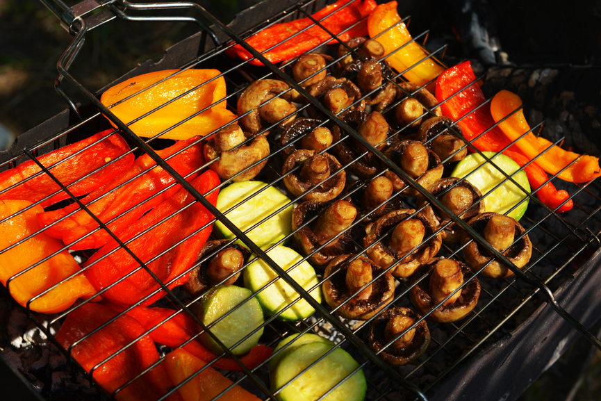Как приготовить овощи на барбекю на костре настенные камины екатеринбург