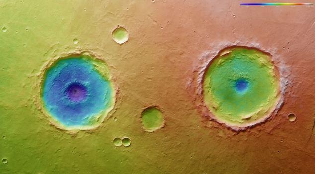 Топографическая карта Марса