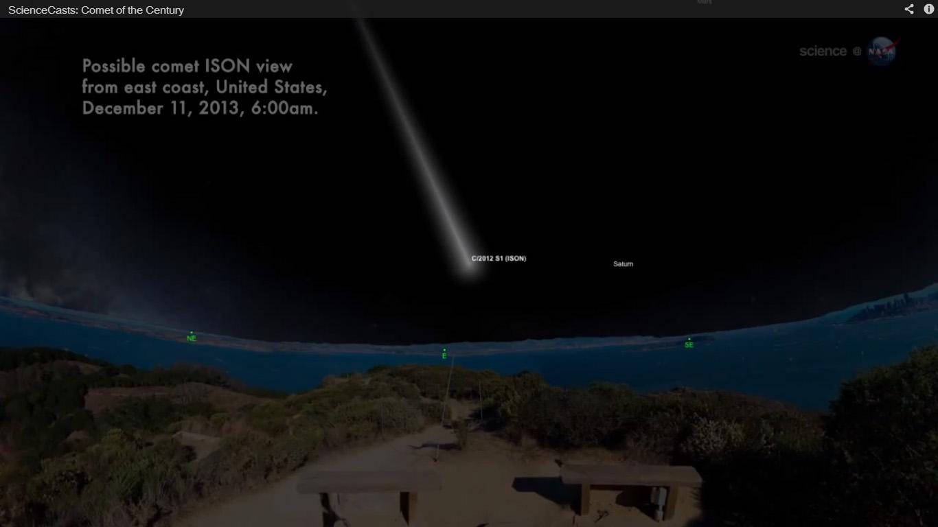 Где увидеть комету ISON в декабре