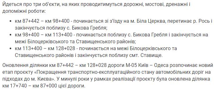 В Киевской области отремонтируют 40 км дорог – Укравтодор