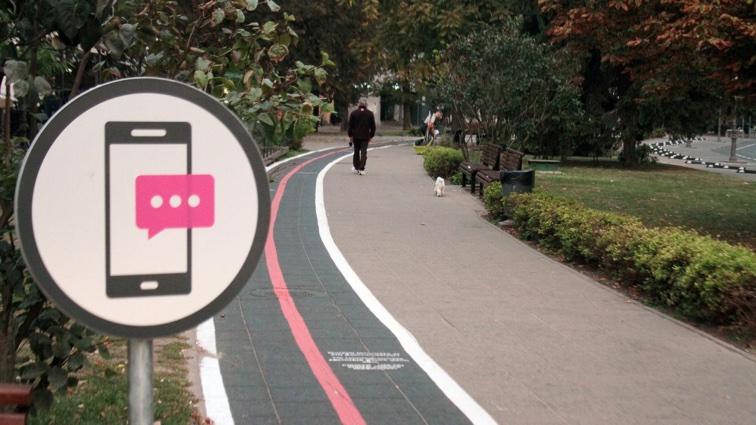Специальные дорожки  для пешеходов со смартфонами