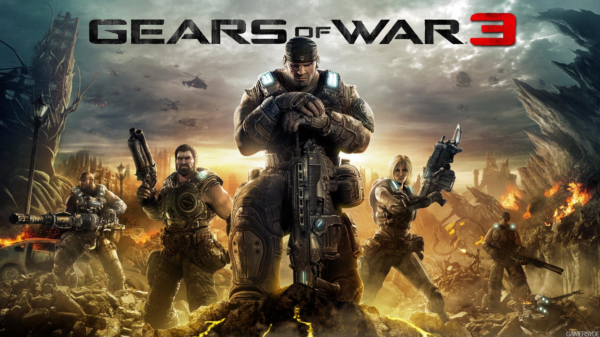 Gears of War 3 на четвертом месте