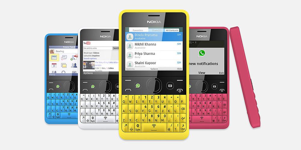 Nokia Asha 210 - все доступные цвета корпусов