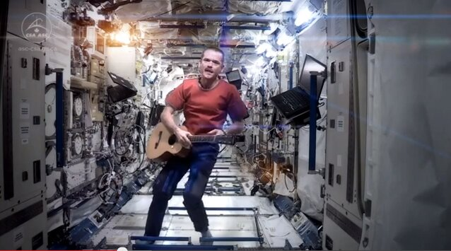 В космосе записали первый музыкальный
