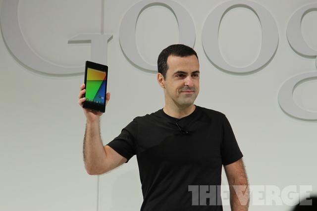 Новый Nexus 7 и директор департамента мобильных продуктов Google Хьюго Барра