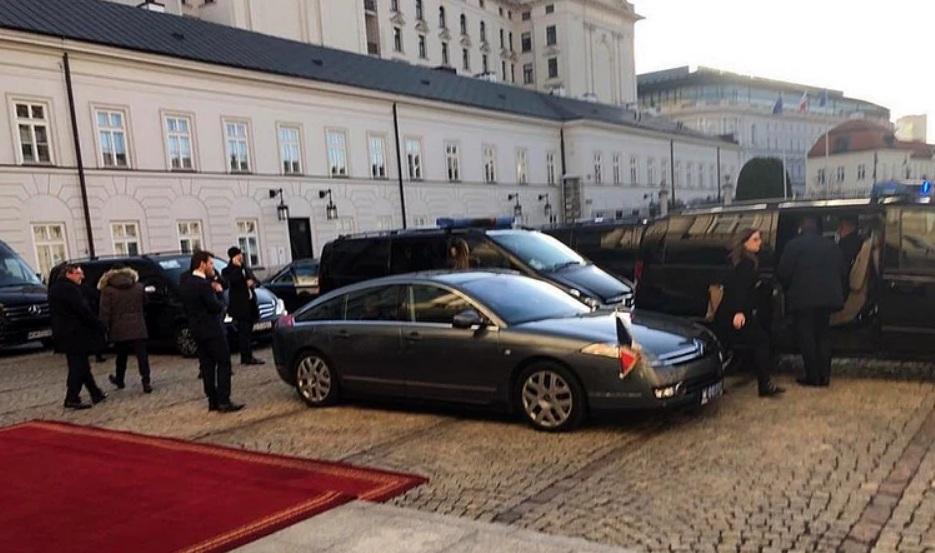 Инцидент произошел после встречи с президентом Польши Анджеем Дудой