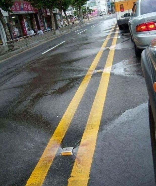 2. Встроенная система автополива дороги