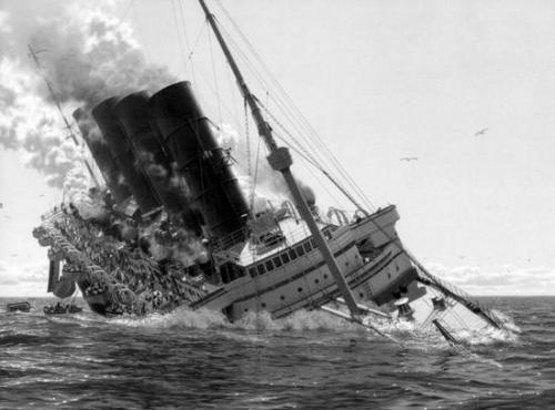 Атака с немецкой субмарины потопила Лузитанию