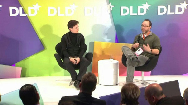 Дуров с основателем Wikipedia