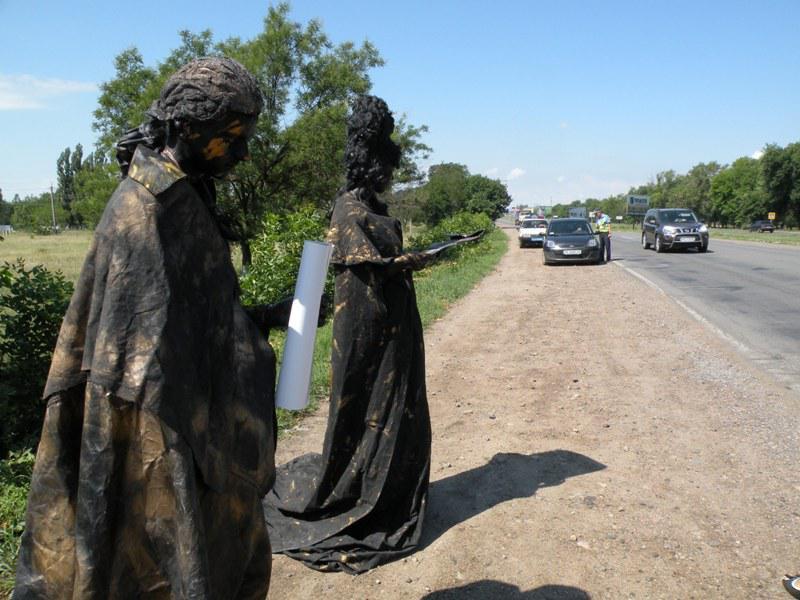 Екатерина II и Фалеев стояли на жаре без движений