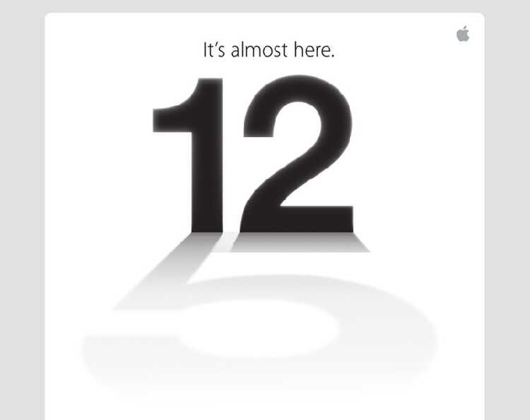Приглашение на презентацию Apple