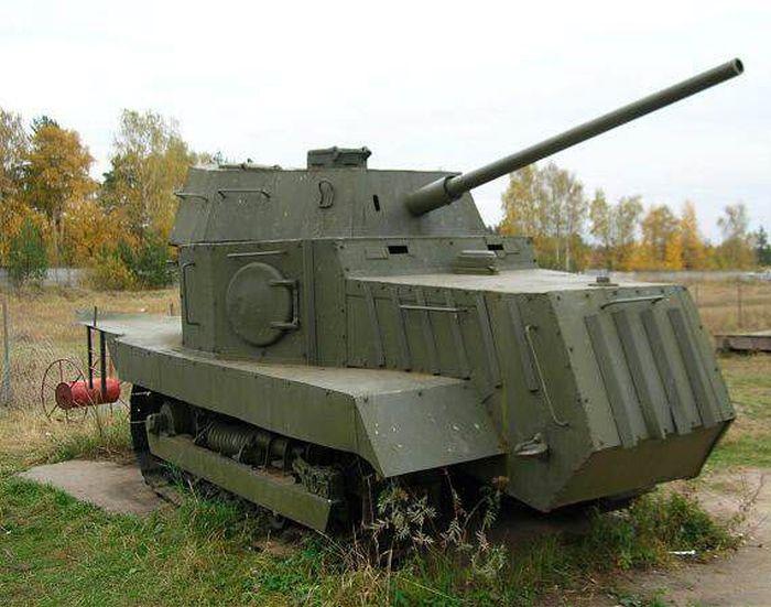 Памятник советскому танку НИ-1