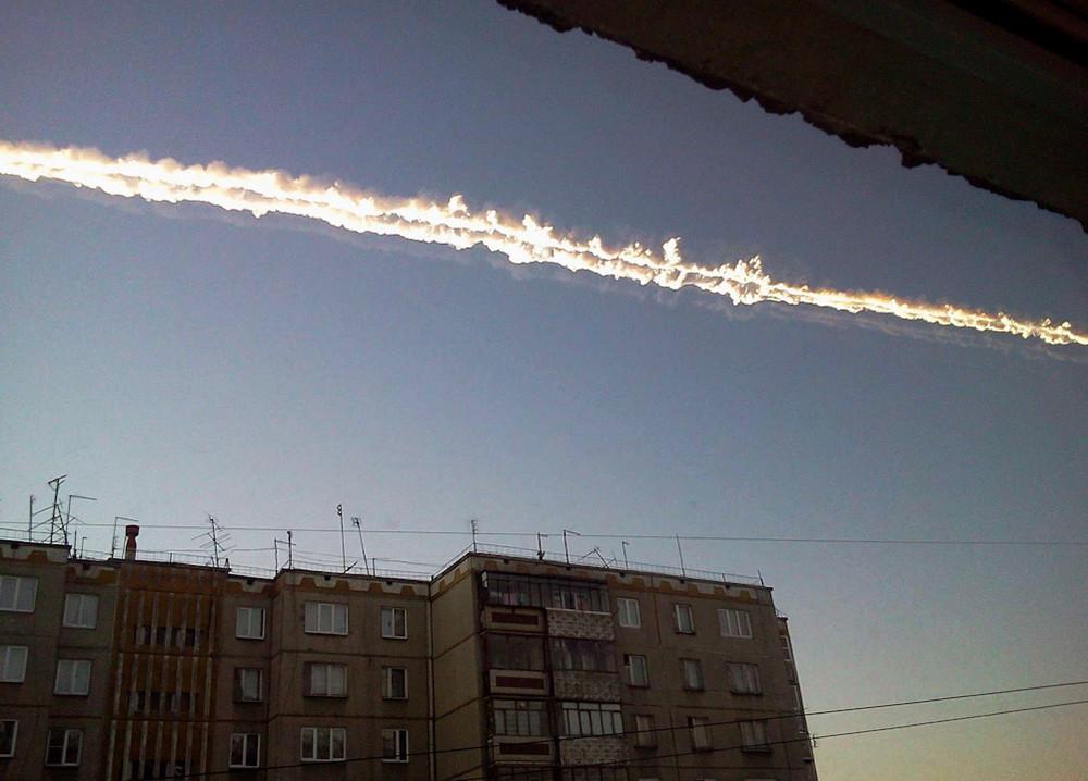 Шлейф от метеорита