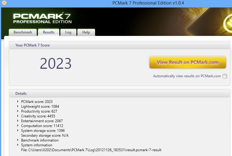 Foxconn NanoPC Barebone AT-7300 Black - оценка производительности PCmark