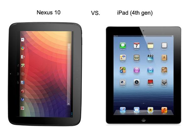 Сравнение корпусов Nexus 10 и iPad 4
