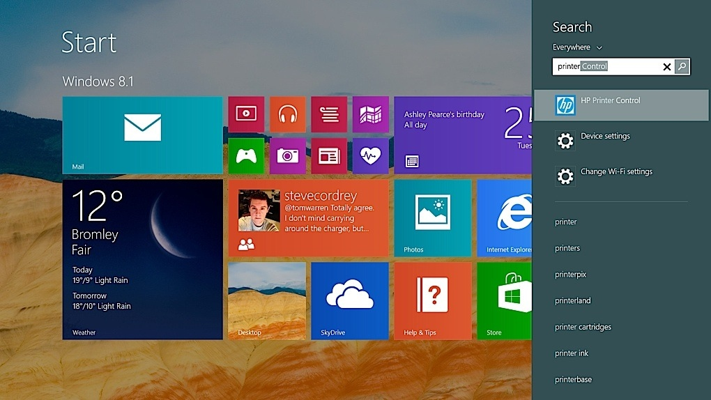 Скриншот Windows 8.1