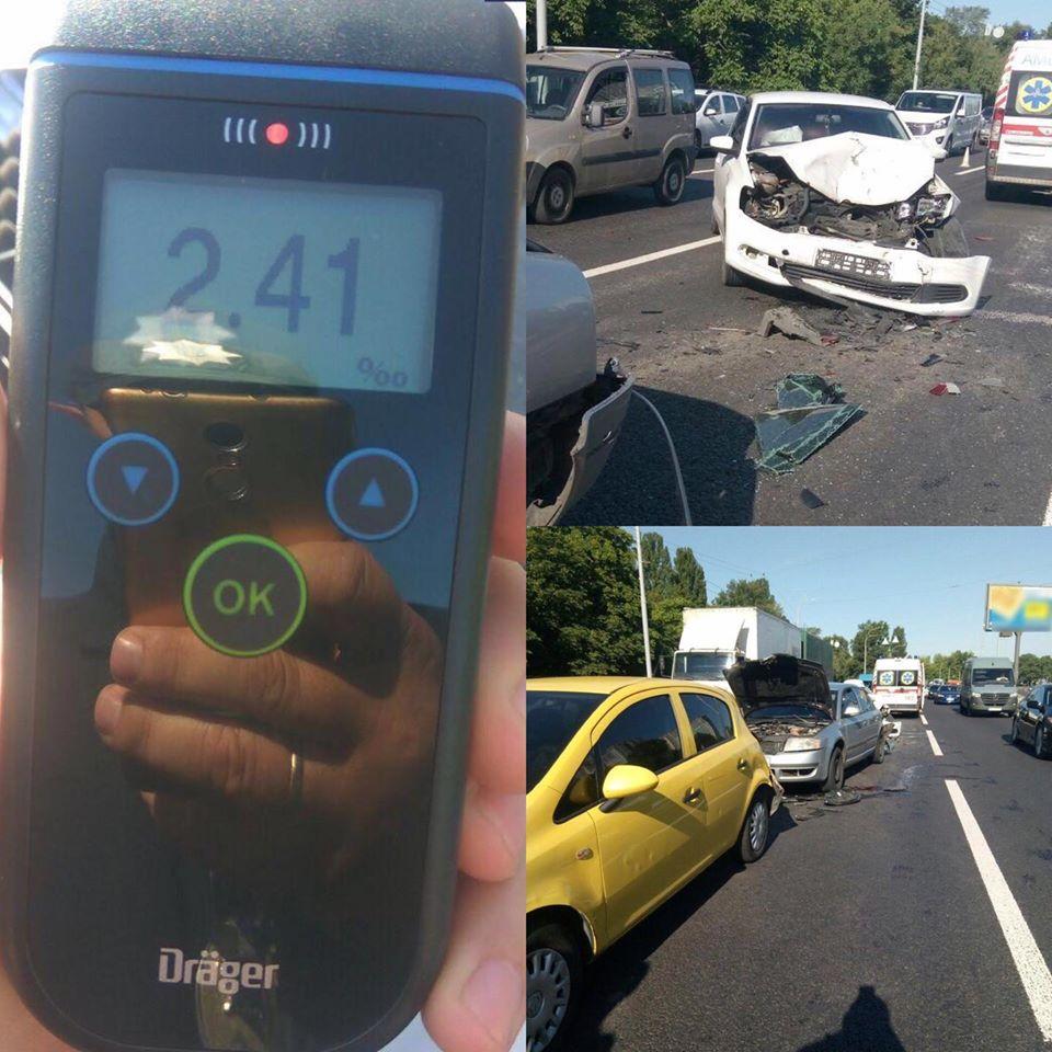 Происшествия на дорогах Киева и области: Сводка за 23 июля