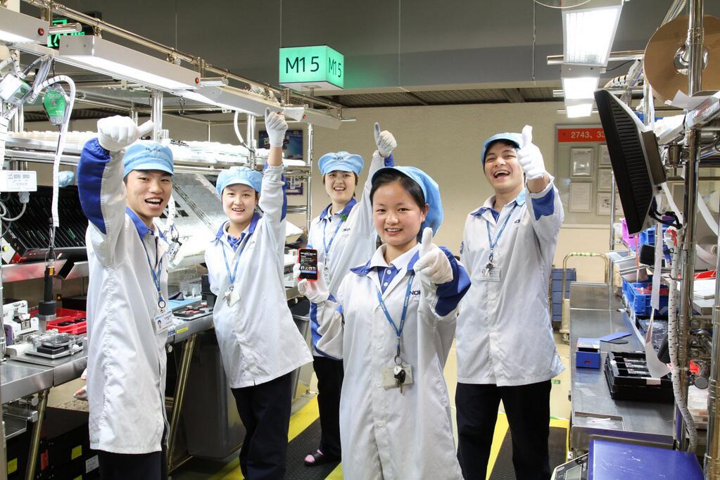 Одна из фабрик Nokia в Китае