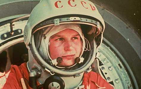 Валентина Терешкова на старте
