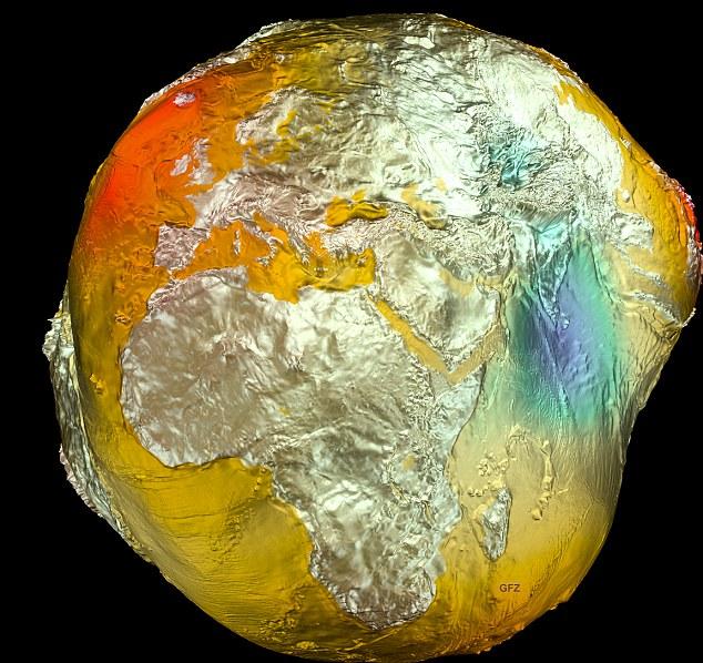 Земля нагревается (3D-модель данных со спутника GRAIL)