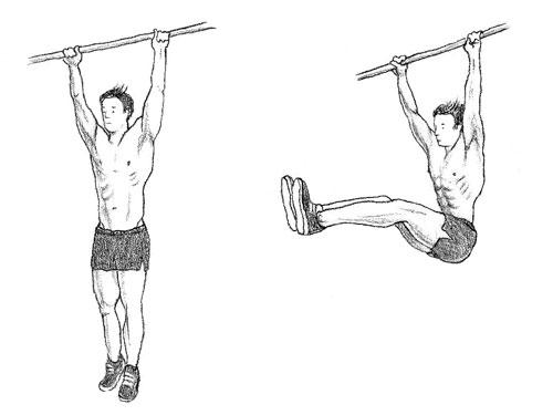 Упражнение укрепляет мышцы не только живота, но и рук