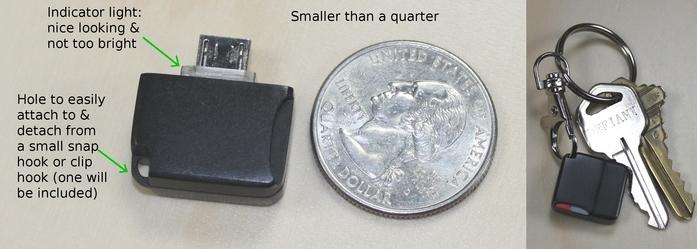 Размером меньше 25-центовой монеты