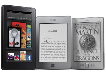 Две читалки и планшет от Amazon