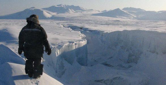 Остров Уорд-Хант покрыт ледниками