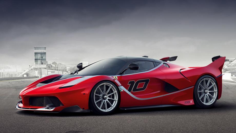 Помимо необычной силовой установки, Ferrari FXX K имеет заниженный клиренс