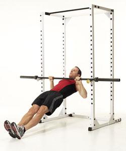При данном упражнении тело всегда должно быть ровным