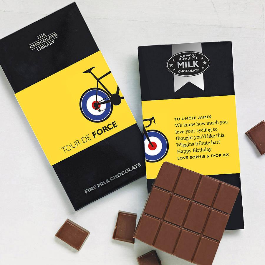 Существует специальный шоколад, придуманный для велосипедистов