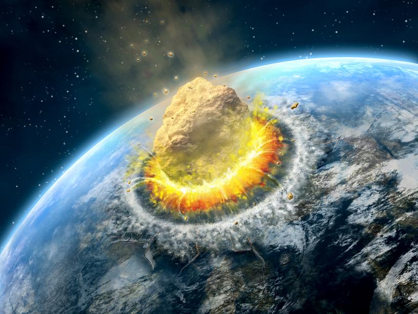 Астероиды падают с периодичностью в 100 лет