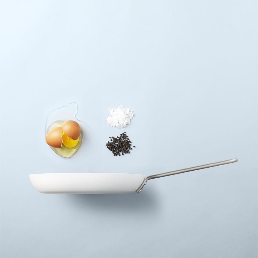 Жаренные яйца - самый простой мужской завтрак