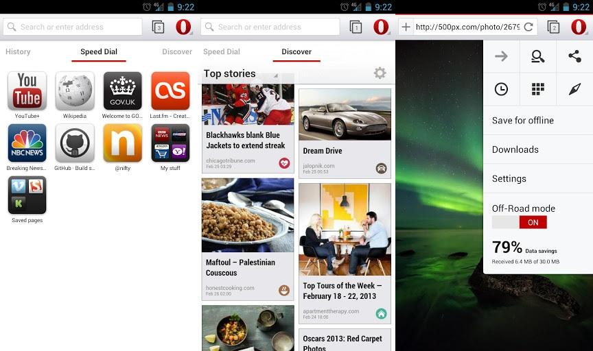 Браузер Опера - новый стартовый экран, закладки и меню