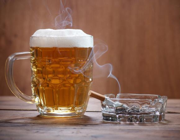 Алкоголь и курение затрудняют дыхание