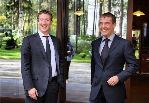 Премьер Медведев и Цукерберг