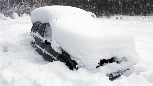 Снег в Швеции