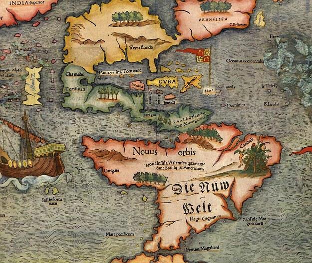 Карта Атлантиды. Возможно легенду о затонувшем континенте стоит пересмотреть и поискать ее следы севернее.