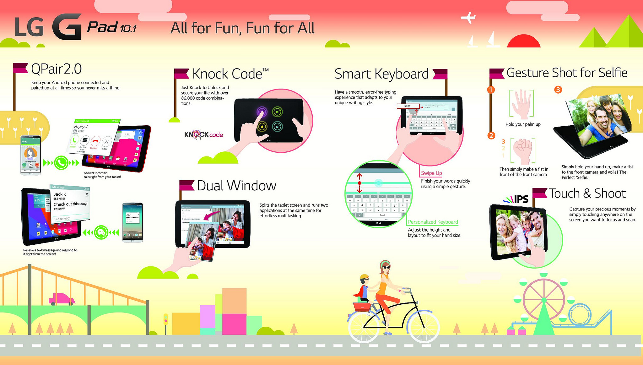 Функции планшета LG G Pad 10.1