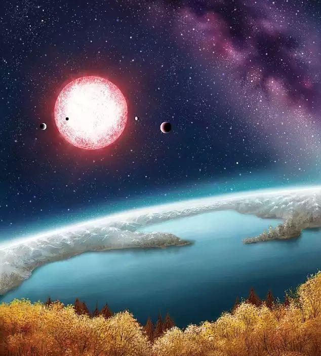 Представление художника о виде с Kepler-186F
