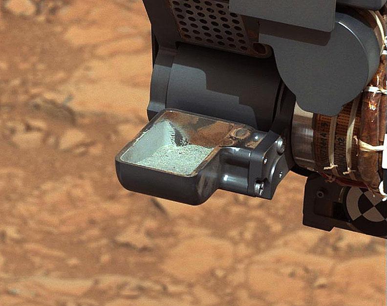 Забор грунта Марса