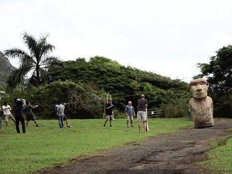 Как перетаскивали истуканов острова Пасхи