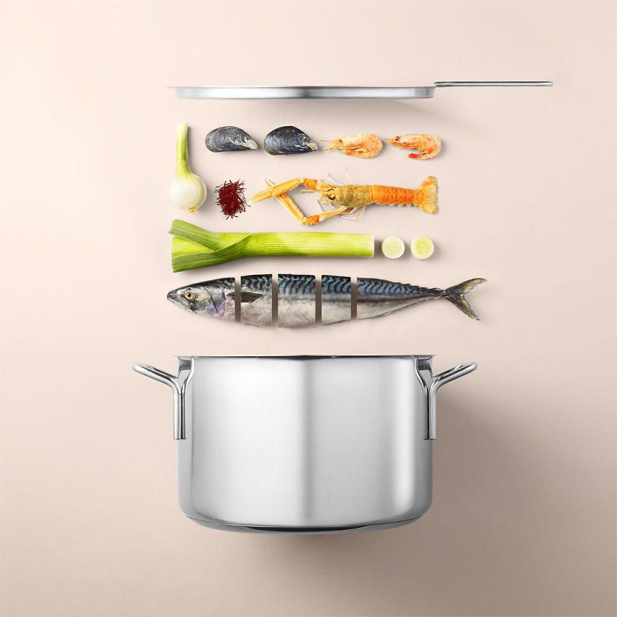 Собери ингредиенты в кастрюле, и вари на среднем огне